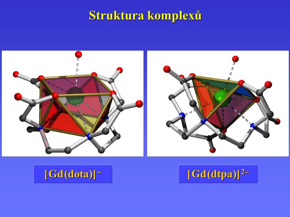 Struktura komplexů [ Gd (dota)] – [ Gd (dtpa)] 2–